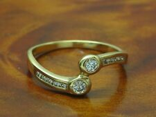 18kt 750 GOLD RING MIT 0,20ct. BRILLANT BESATZ / BRILLANTRING / DIAMANTRING