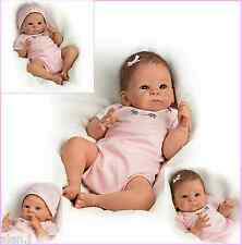 """Little Peanut"" Ashton Drake Poseable weighted Newborn Baby Doll- pink Outfit"