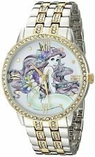 Disney Princess Ariel Womens Watch Gold Silver Crystals NEW The Little Mermaid