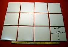 Vintage… NOS…White Field Tile…4-3/8 inch wide…Matte Finish…Mosaic Co.
