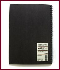 muji black kraft paper cover 6mm ruled B5 notebook 48 sheets = 96 pages