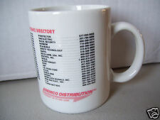"Rare ""Ademco Distribution Technical Assistance Directory"" Coffee Tea Mug Cup"