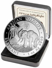 100 Schilling Somalia WorldMoneyFair Privy Wildlife Elefant  2017 1oz Silber