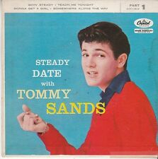 Tommy Sands ROCKABILLY TEEN EP & PS (Capitol 1-848) Goin' Steady/Somewhere  VG++