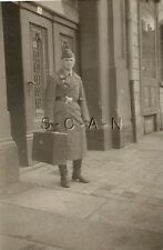 WWII German Luftwaffe RP- Airman- Soldier- Hat- Overcoat- Holds Large Briefcase