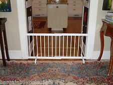 """Cardinal Wood Freestanding Step Over Pet Dog Gate White up to 51 3/4"""" Wide"""