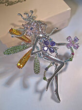 "KIRKS FOLLY VINTAGE/RARE ""UPTOWN FAIRY BROOCH"" AMAZING SPARKLE-STUNNING DETAILS!"