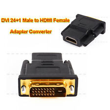 Gold Plated DVI 24+1 Male to HDMI Female Connector Adapter Converter For HDTV
