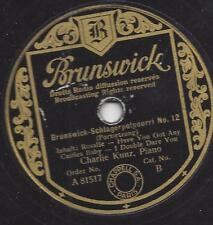Charlie Kunz Piano auf deutscher Brunswick von 1938  Schlagerpotpourri Nr. 12
