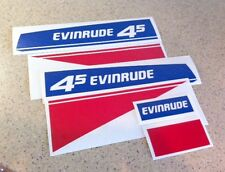 Evinrude Vintage 4.5 HP Outboard Motor Decal Set FREE SHIP + Free Fish Decal!
