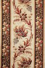 Antique French madder brown fabric c1840 curtain panel linen cotton blend