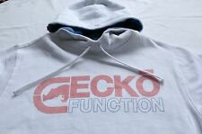 ECKO FUNCTION Mens WHITE LOGO PULLOWVER FLEECE SWEATSHIRT HOODY NWT M Medium $50