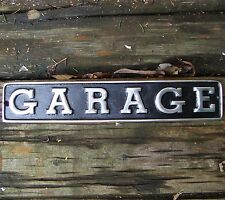 GARAGE sign MEDIUM cast aluminium garage mancave shed workshop vintage VAC139