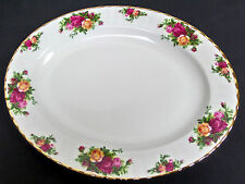 OLD COUNTRY ROSES 34.5cm SERVING PLATTER, 1st QLTY, VGC, 1993-2002, ROYAL ALBERT