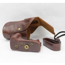 Leather Camera Case Bag For Canon EOS 60D 70D Lens