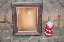 Handmade Wooden Photo Picture Frame Vintage Carved Wood Arts and Crafts Hanging