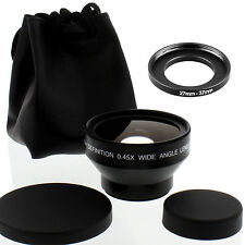 Albinar HD 37mm 27mm Wide Angle Lens with Macro for Panasonic PV-GS50A Camcorder