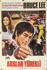 R174 ARSLAN YUREKLI Turkish movie Poster, '70s cool artwork of Bruce Lee!