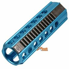 CNC Aluminum 14 Steel Teeth Piston for Airsoft AEG Ver.2 / 3 Gearbox (Blue)