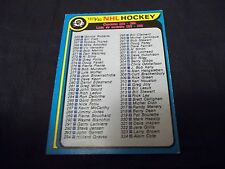 1979-80 OPC O-Pee-Chee #346 Checklist - exmt - marked