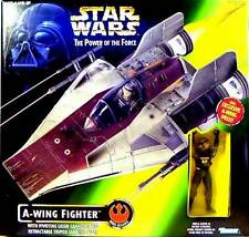Star Wars POTF A-Wing Fighter + Exclusive A-Wing Pilot Deluxe Box Set 1997 Mint