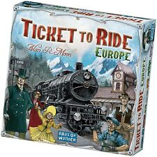 Ticket To Ride Europe Train Board Game From Days Of Wonder Alan Moon