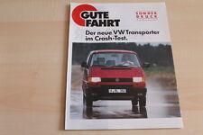 90905) VW Bus T4 Crashtest - Sonderdruck - Gute Fahrt 04/1991