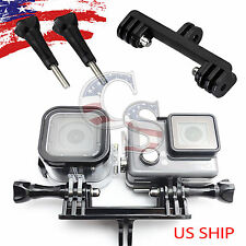 Double Dual Sport Camera Holder Handle Grip Monopod Mount for GoPro Hero 2 3 4
