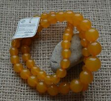 38.4 gr Vintage pressed round beads baltic amber necklace egg yolk butterscotch