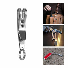 Mini EDC Gear Pocket Suspension Clip Hanger Tool w/ Key Ring Keychain Keyfob