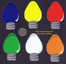 LMH Magnet  CHRISTMAS TREE LIGHT BULB Shape Red Yellow Blue Green Orange SIX (6)