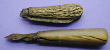 TWO 17TH CENTURY KN1FE HANDLES FOUND ON THAMES FORESHORE