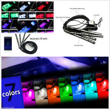 12V Multi-Color 12LED Car Footwell Neon Lights Wireless APP Control Lamps Strips