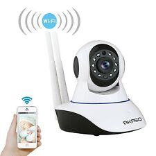 Dual Antenna wireless IP CCTV security camera HD wifi SD Card slot Mic liveview