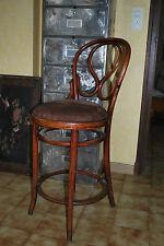 Tabouret chaise haute bistrot bois courbé THONET
