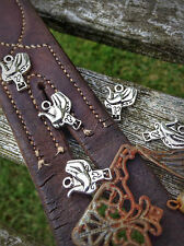 10 TIBETAN SILVER WESTERN COWBOY SADDLE/HORSE/EQUINE CHARMS