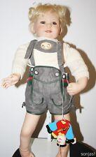 Künstlerpuppe mit Lederhose und Spielzeug - Susan Lippl limit. 50/750 - 65cm