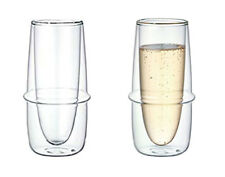 Double-Wall Kinto KRONOS Champagne Glass - Maintains Temperature  - Set of Two