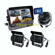 "A42 7"" MONITOR WITH DVR RECORDING CAR REAR VIEW CAMERA SYSTEM REVERSE CAMERA KIT"
