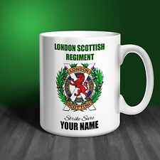 London Scottish Regiment Personalised Ceramic Mug Gift