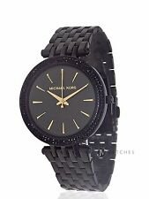 BRAND NEW WOMENS MICHAEL KORS (MK3337) DARCI BLACK DIAL WATCH