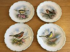 Royal Albert The Woodland Birds Collection Set of 4 Plates by Reg Johnson 1982