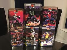 TOY BIZ MARVEL MODEL KIT LOT 1998 Spider-Man Storm Hulk Venom Wolverine Thing