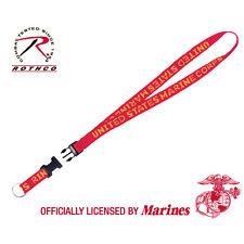 Rothco US Military Marines USMC Red Yellow Camo Neck ID Lanyard QR Key Chain