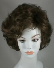 Light Brown Short length Wig w/Soft Curls & Bangs