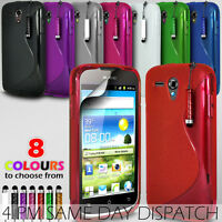 S LINE WAVE GEL SKIN CASE COVER & CHOICE OF STYLUS PEN FOR HUAWEI ASCEND G300