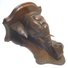 Ancienne Petite Étagère en Bois sculpté Éléphant
