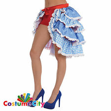 Womens Kansas Cutie Wizard of Oz Bustle Skirt Dorothy Fancy Dress Accessory