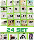 Mixed Lot 24 set Funny Diary Decoration Stickers Colorful Cute Cartoon DIY Label