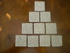 "10 New Selee Ceramic Foam Square Filters 13/4""x13/4""x1/2"" for metal foundries"